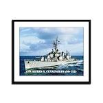 USS ALFRED A. CUNNINGHAM Framed Panel Print