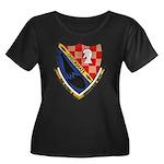 USS ALFR Women's Plus Size Scoop Neck Dark T-Shirt
