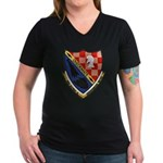 USS ALFRED A. CUNNINGH Women's V-Neck Dark T-Shirt