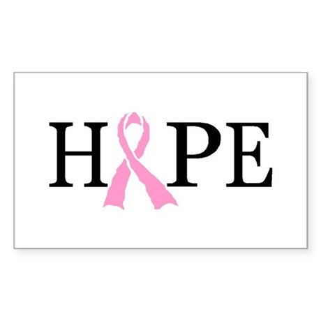 CURE CANCER Rectangle Sticker