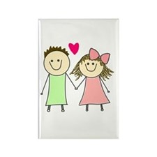 Cute Dating Rectangle Magnet