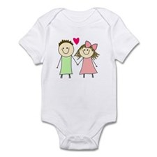 Cute Dated relationships girlfriend Infant Bodysuit