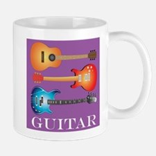 3 Guitars on Purple Backgroun Mug