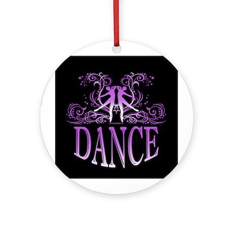DANCE (purple) Ornament (Round)