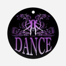 DANCE (purple) Ornament (Round)