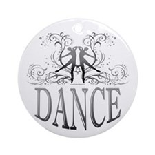 DANCE (gray) Ornament (Round)