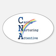 CNA Rainbow Oval Decal