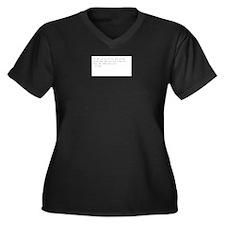 Dr Women's Plus Size V-Neck Dark T-Shirt