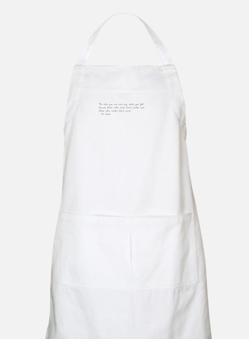 Cute Meaningful quote Apron