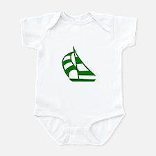 Green Sailboat Infant Bodysuit