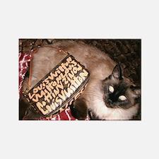Maile's Louis Vuitton Cat Rectangle Magnet (10 pac