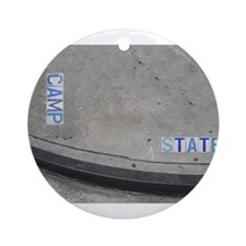 Camp & State St. Ornament (Round)
