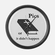 Bible Pics or it Didn't Happe Large Wall Clock