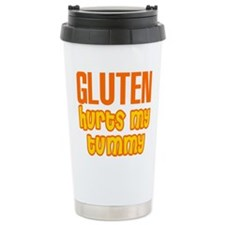 Gluten Hurts My Tummy Travel Coffee Mug