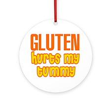 Gluten Hurts My Tummy Ornament (Round)