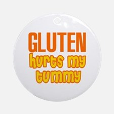 Gluten Hurts My Tummy Ornament (Round)