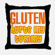 Gluten Hurts My Tummy Throw Pillow