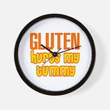 Gluten Hurts My Tummy Wall Clock