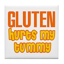 Gluten Hurts My Tummy Tile Coaster