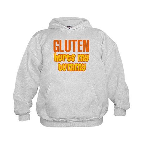 Gluten Hurts My Tummy Kids Hoodie