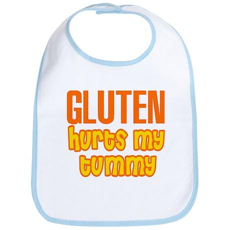 Gluten Hurts My Tummy Bib