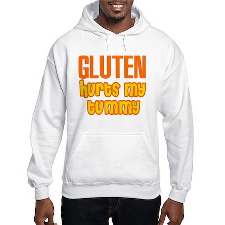 Gluten Hurts My Tummy Hooded Sweatshirt