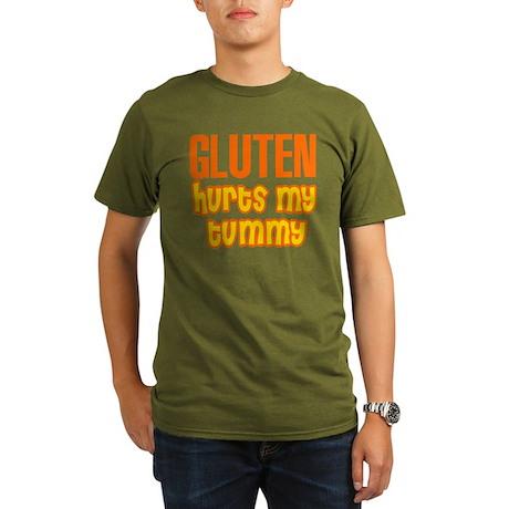 Gluten Hurts My Tummy Organic Men's T-Shirt (dark)