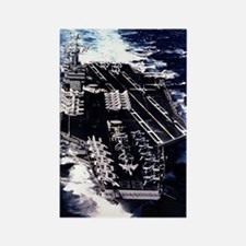 USS Eisenhower Ship's Image Rectangle Magnet