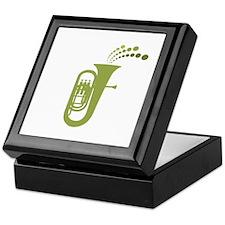 Green Retro Tuba Keepsake Box