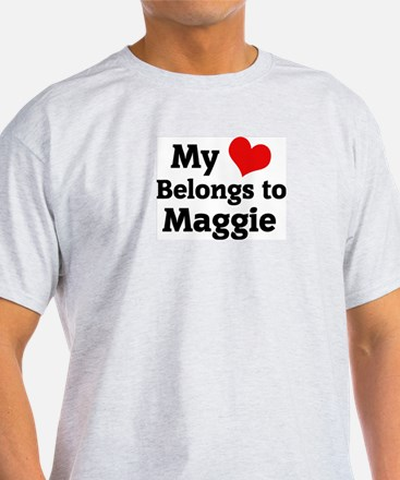 My Heart: Maggie Ash Grey T-Shirt
