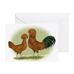 Polish Red Fowl Greeting Card