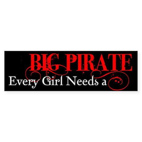 Big Pirate Bumper Sticker