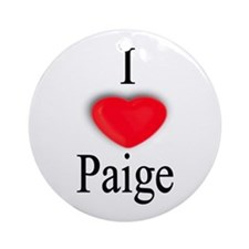Paige Ornament (Round)