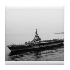 USS Essex Ship's Image Tile Coaster