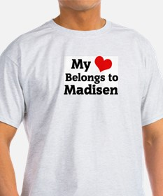 My Heart: Madisen Ash Grey T-Shirt