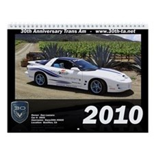 30th Anniversary Trans Am Wall Calendar