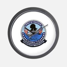 USS George Washington CVN 73 Wall Clock