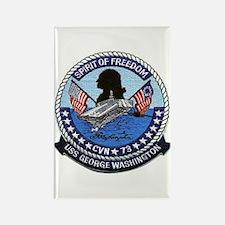 USS George Washington CVN 73 Rectangle Magnet