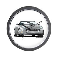 2002 05 Ford Thunderbird Silver Wall Clock