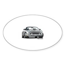 2002 05 Ford Thunderbird Silver Oval Decal
