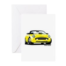 2002 05 Ford Thunderbird yellow Greeting Cards (Pk