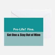 Pro-life? Fine. Greeting Cards (Pk of 10)