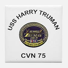 USS Harry S Truman CVN-75 Tile Coaster