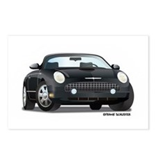 2002 05 Ford Thunderbird Blk Postcards (Package of