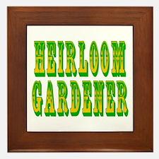 Heirloom Gardener Framed Tile