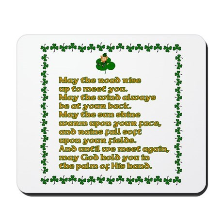 Irish Sayings, Toasts and Ble Mousepad