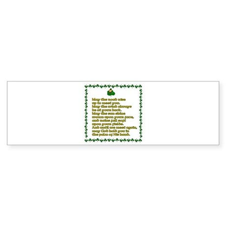 Irish Sayings, Toasts and Ble Bumper Sticker