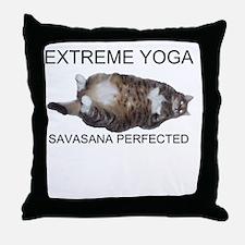 Extreme Yoga Throw Pillow