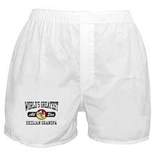 World's Greatest Sicilian Grandpa Boxer Shorts