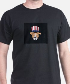 Patriotic Pit black T-Shirt